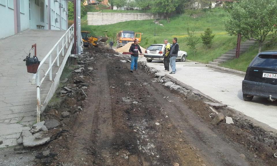 Санација на пристапот околу Здраствениот Дом во Крива Паланка