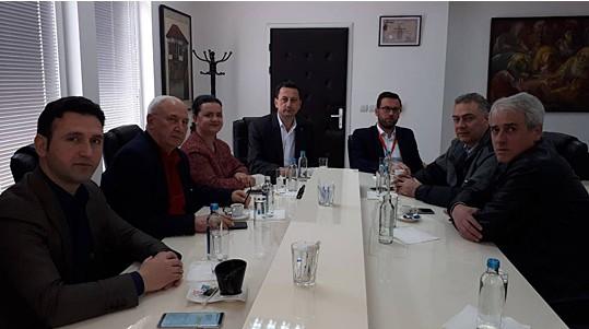 Собраниска делегација на средба со градоначалникот Мицевски
