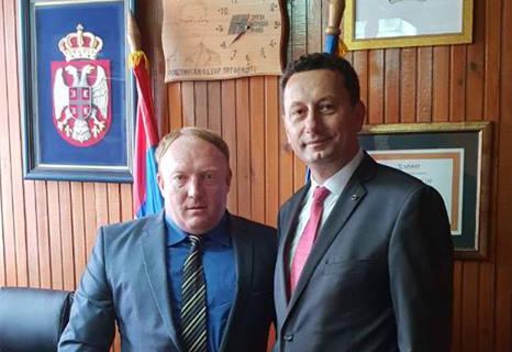 Градоначалникот Мицевски во посета на општина Трговиште, Р.Србија