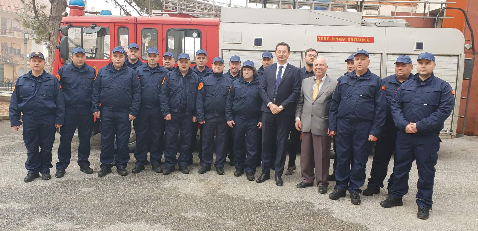 Промовирани новите униформи и нова опрема на Противпожарната едница во Крива Паланка
