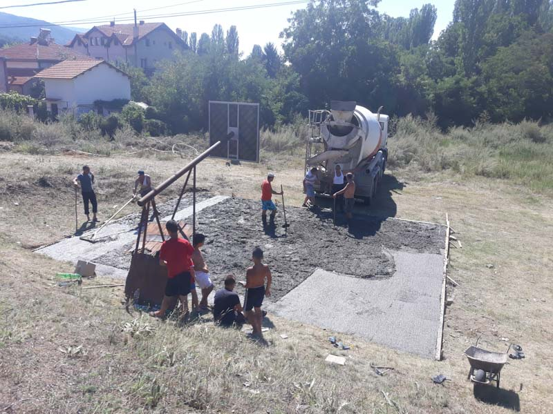 Обновено игралиштето во населба Грамаѓе