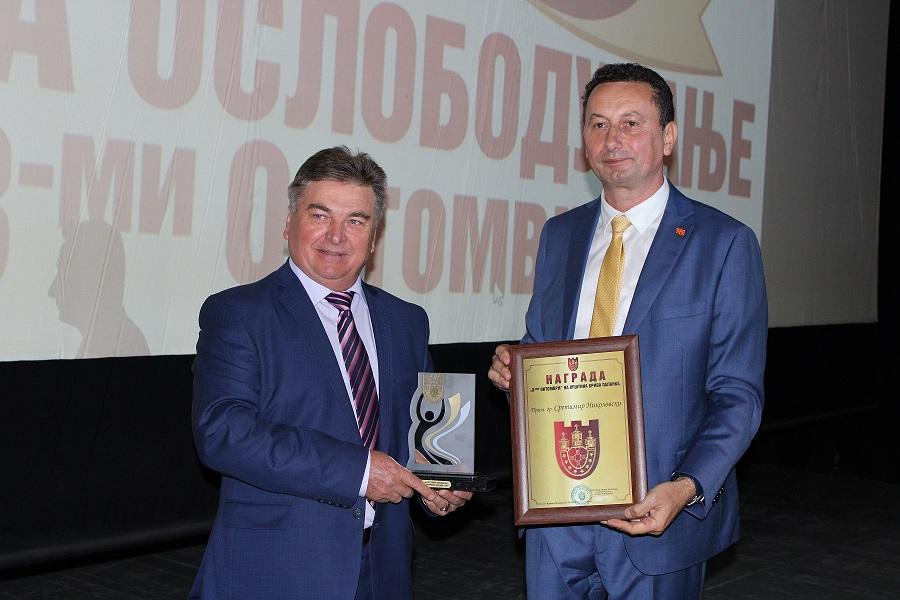 Примариус д-р Сретимир Николовски е добитник на Осмооктомвриската награда за 2019 година