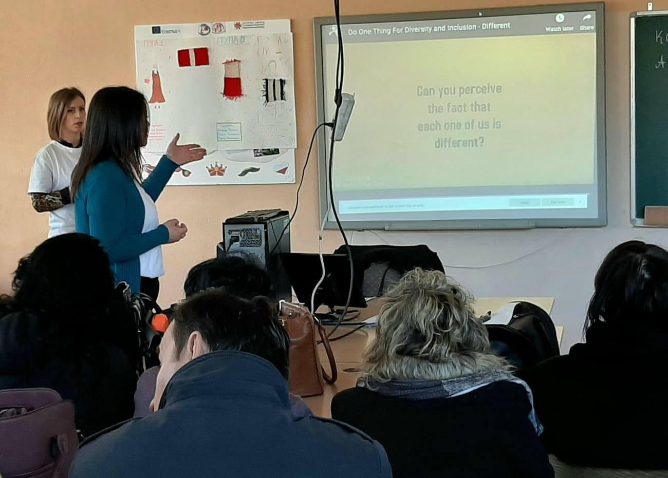 """Дисиминација на наставници и стручни соработници од училиштето на тема """"Инклузивно образование и АДХД"""" во рамките на Еразмус+ проект """"Една мисија, една визија, еден фокус"""""""