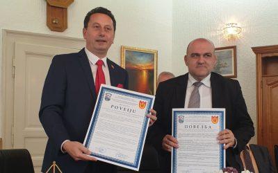 Потпишана повелба за пријателство и соработка помеѓу град Жупања и Општина Крива Паланка