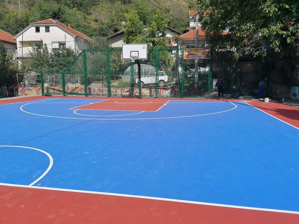 Ново современо игралиште за баскет